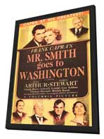 Mr. Smith Goes to Washington - 11 x 17 Movie Poster - Style C - in Deluxe Wood Frame
