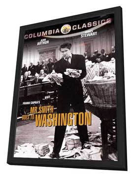 Mr. Smith Goes to Washington - 11 x 17 Movie Poster - Style G - in Deluxe Wood Frame