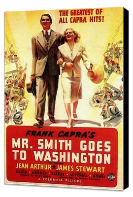 Mr. Smith Goes to Washington - 11 x 17 Movie Poster - Style D - Museum Wrapped Canvas
