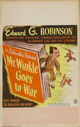 Mr. Winkle Goes to War - 11 x 17 Movie Poster - Style B