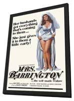 Mrs. Barrington - 11 x 17 Movie Poster - Style A - in Deluxe Wood Frame