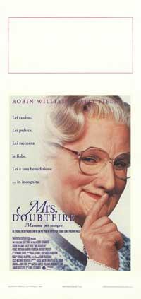 Mrs. Doubtfire - 13 x 28 Movie Poster - Italian Style A