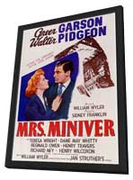 Mrs. Miniver - 11 x 17 Movie Poster - Style A - in Deluxe Wood Frame