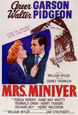 Mrs. Miniver - 27 x 40 Movie Poster - Style A