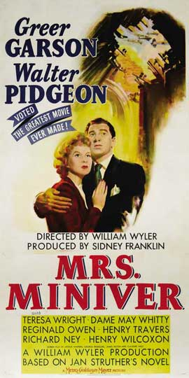 Mrs. Miniver - 20 x 40 Movie Poster - Style A