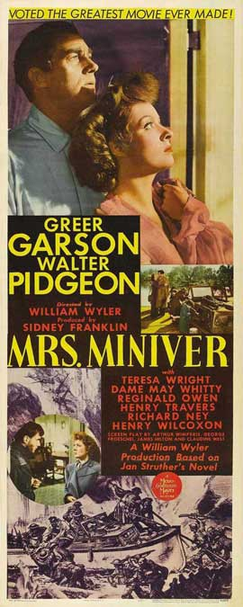 Mrs. Miniver - 14 x 36 Movie Poster - Insert Style A