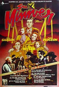 Mrs. Miniver - 11 x 17 Movie Poster - Spanish Style A
