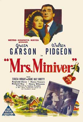 Mrs. Miniver - 27 x 40 Movie Poster - Australian Style A