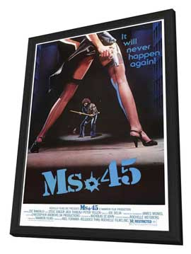 Ms. 45 - 27 x 40 Movie Poster - Style A - in Deluxe Wood Frame