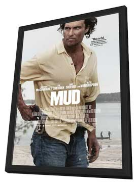 Mud - 27 x 40 Movie Poster - Style A - in Deluxe Wood Frame