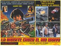 La Muerte cruzo el rio Bravo - 11 x 14 Poster Spanish Style B