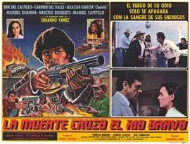 La Muerte cruzo el rio Bravo - 11 x 14 Poster Spanish Style F