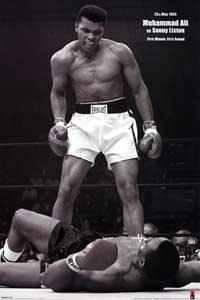 Muhammad Ali - Sonny Liston - Sports Poster - 24 x 36 - Style C