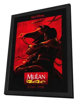 Mulan - 27 x 40 Movie Poster - Style A - in Deluxe Wood Frame