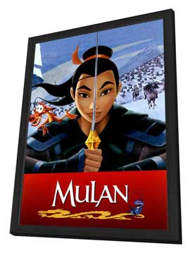 Mulan - 27 x 40 Movie Poster - Style B - in Deluxe Wood Frame
