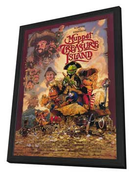 Muppet Treasure Island - 27 x 40 Movie Poster - Style A - in Deluxe Wood Frame