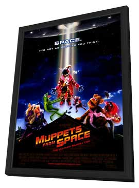Muppets from Space - 27 x 40 Movie Poster - Style A - in Deluxe Wood Frame