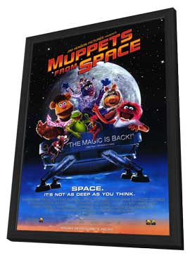 Muppets from Space - 11 x 17 Movie Poster - Style B - in Deluxe Wood Frame
