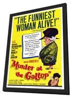 Murder at the Gallop - 11 x 17 Movie Poster - Style A - in Deluxe Wood Frame