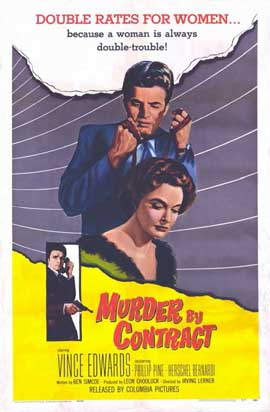 Murder by Contract - 11 x 17 Movie Poster - Spanish Style A