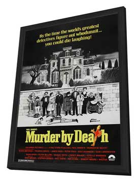 Murder by Death - 11 x 17 Movie Poster - Style C - in Deluxe Wood Frame