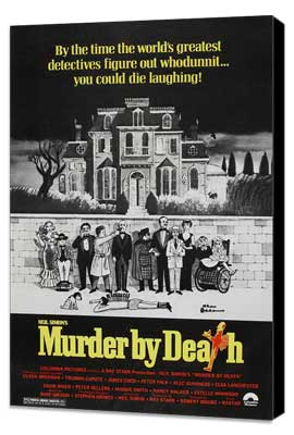 Murder by Death - 11 x 17 Movie Poster - Style C - Museum Wrapped Canvas