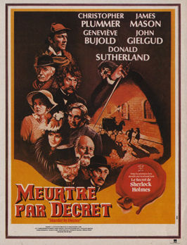 Murder by Decree - 11 x 17 Movie Poster - French Style A