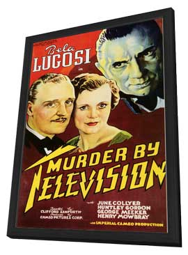 Murder by Television - 11 x 17 Movie Poster - Style A - in Deluxe Wood Frame
