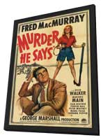 Murder, He Says - 11 x 17 Movie Poster - Style A - in Deluxe Wood Frame