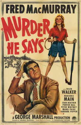 Murder, He Says - 11 x 17 Movie Poster - Style A