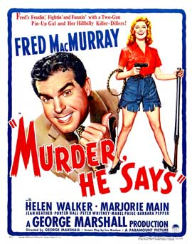 Murder, He Says - 22 x 28 Movie Poster - Style A