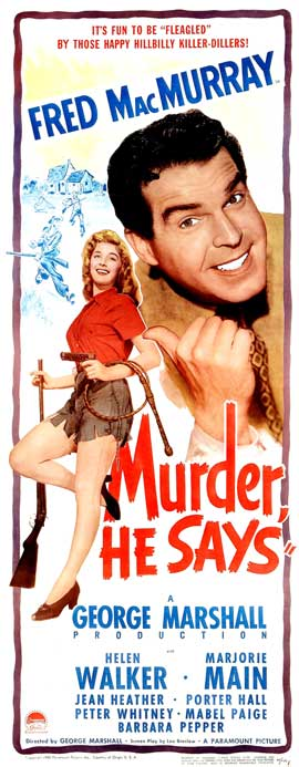 Murder, He Says - 14 x 36 Movie Poster - Insert Style A
