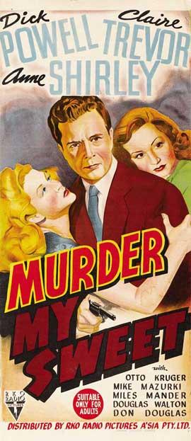 Murder, My Sweet - 14 x 36 Movie Poster - Insert Style B