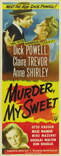 Murder, My Sweet - 14 x 36 Movie Poster - Insert Style A