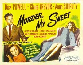 Murder, My Sweet - 22 x 28 Movie Poster - Half Sheet Style B