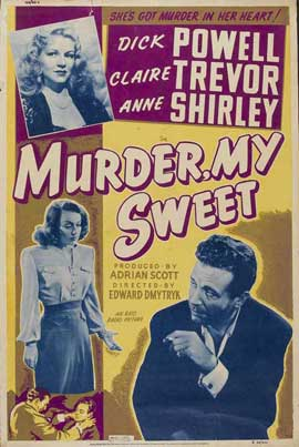 Murder, My Sweet - 11 x 17 Movie Poster - Style F