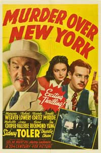 Murder Over New York - 27 x 40 Movie Poster - Style A