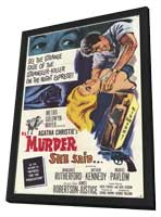 Murder She Said - 11 x 17 Movie Poster - Style A - in Deluxe Wood Frame