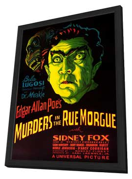 Murders in the Rue Morgue - 27 x 40 Movie Poster - Style A - in Deluxe Wood Frame