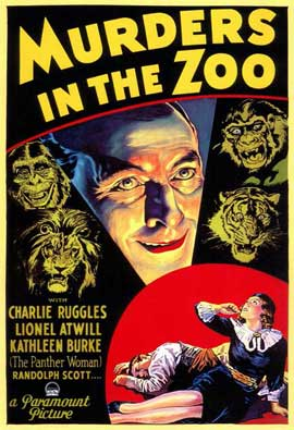 Murders in the Zoo - 11 x 17 Movie Poster - Style A