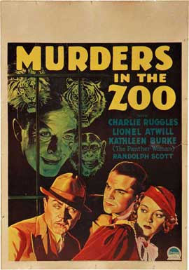 Murders in the Zoo - 11 x 17 Movie Poster - Style B