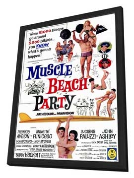 Muscle Beach Party - 11 x 17 Movie Poster - Style A - in Deluxe Wood Frame