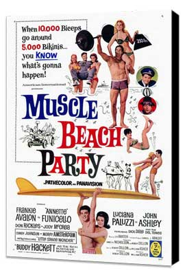 Muscle Beach Party - 27 x 40 Movie Poster - Style A - Museum Wrapped Canvas