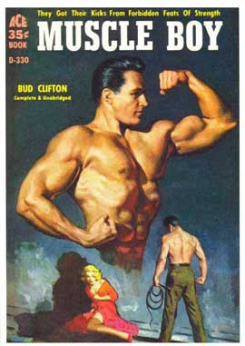 Muscle Boy - 11 x 17 Retro Book Cover Poster