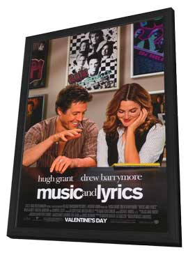 Music and Lyrics - 11 x 17 Movie Poster - Style A - in Deluxe Wood Frame
