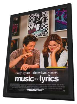 Music and Lyrics - 27 x 40 Movie Poster - Style A - in Deluxe Wood Frame