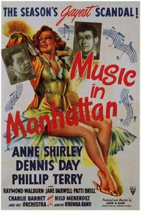 Music in Manhattan - 43 x 62 Movie Poster - Bus Shelter Style A