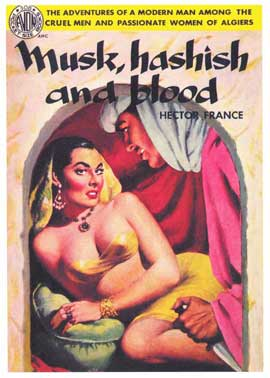 Musk Hashish and Blood - 11 x 17 Retro Book Cover Poster