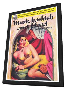Musk Hashish and Blood - 11 x 17 Retro Book Cover Poster - in Deluxe Wood Frame