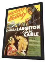 Mutiny on the Bounty - 11 x 17 Movie Poster - Style B - in Deluxe Wood Frame